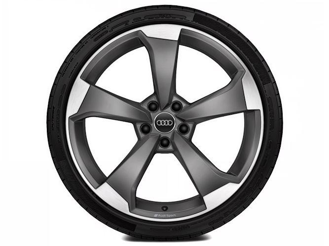 "5-eget rotordesign, titaniumoptik (9J x 20""), Audi Sport"