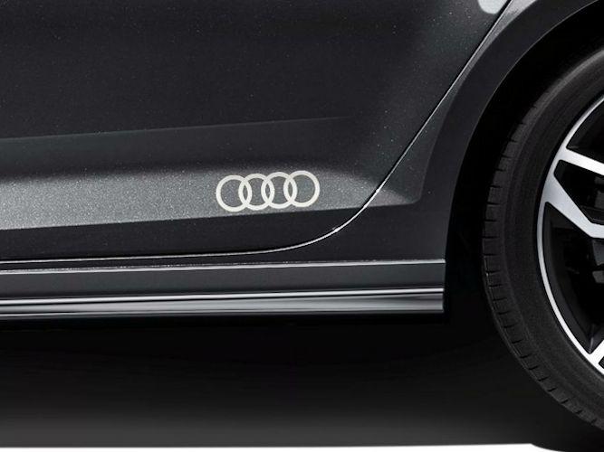 Audi logo som dekorfolie