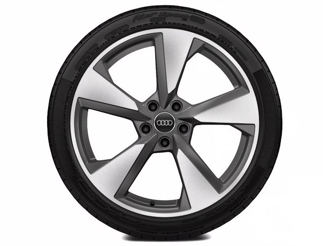 "5-eget pylon-design, titaniumoptik (8,5J x 19""), Audi Sport"