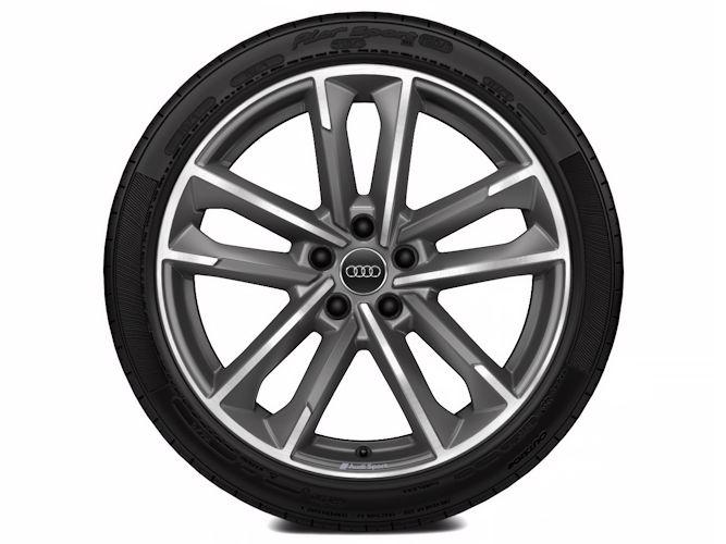 "5-dobbelteget design, titaniumoptik (8,5J x 19""), Audi Sport"