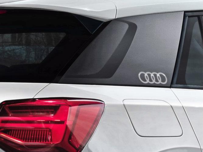 Audi logo som dekorfolie til sideblades