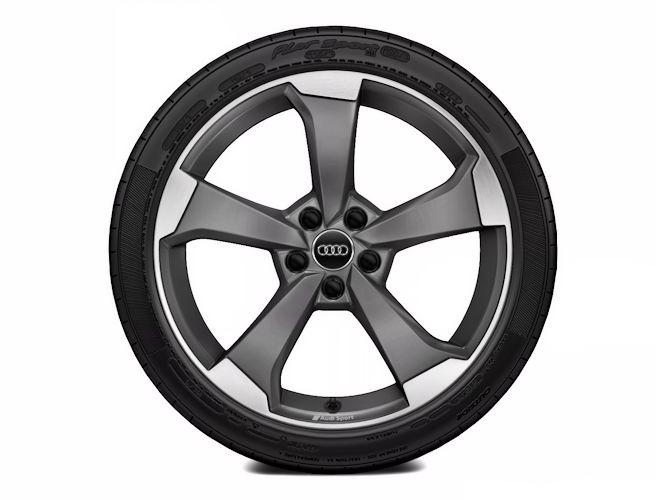 "5-eget rotordesign, titaniumoptik (8,5J x 19""), Audi Sport"