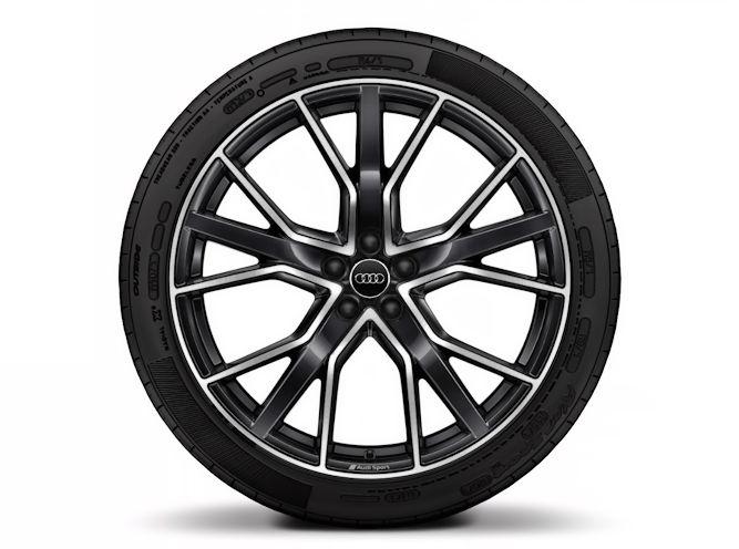 """5-V-eget stjernedesign, antracitsort (10J x 22""""), Audi Sport"""