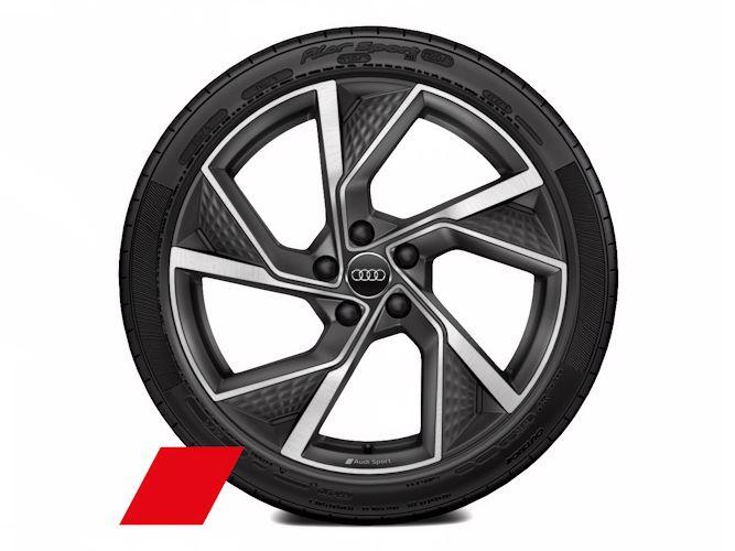 "5-Y-eget strukturdesign, mat titaniumgrå (8J x 19""), Audi Sport"