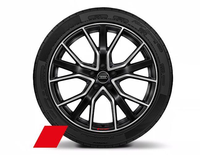 """5-V-eget stjernedesign, antracitsort (8J x 20""""), Audi Sport"""