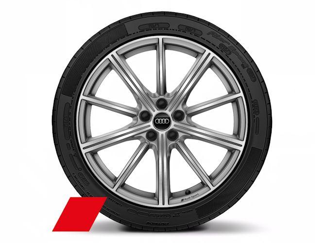 """10-eget stjernedesign, platinoptik (8J x 20""""), Audi Sport"""