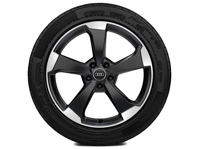 "5-eget rotordesign, sort (8J x 19""), Audi Sport"