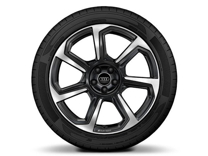 "7-eget rotordesign, antracitsort (7,5J x 18""), Audi Sport"