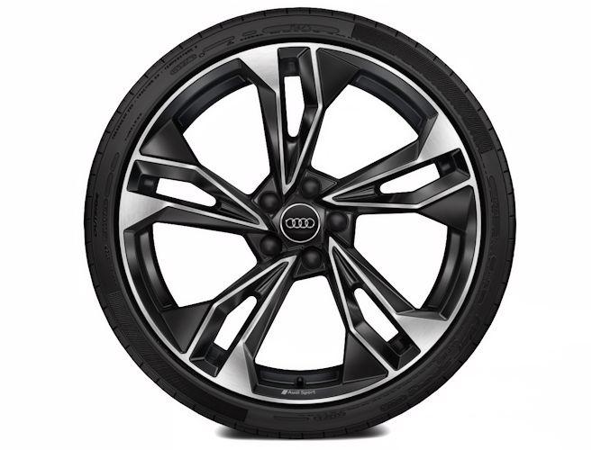 "5-dobbelteget polygondesign, antracitsort (9J x 20""), Audi Sport"