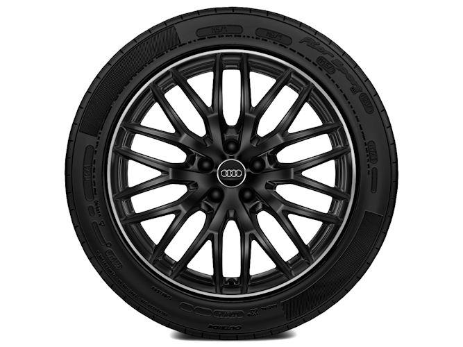 """10-Y-eget design, sort (8J x 19""""), Audi Sport"""