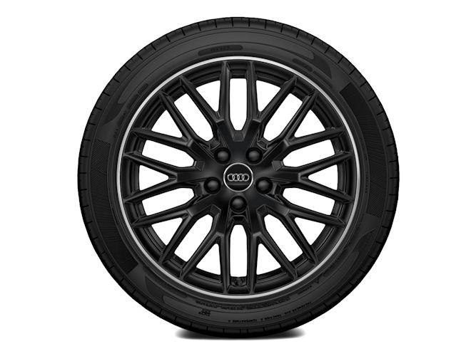 """10-Y-eget design, sort højglans (8J x 18""""), Audi Sport"""