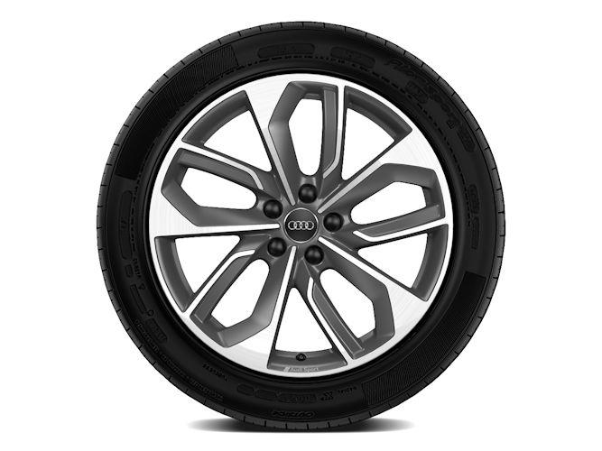 "5-dobbelteget edge-design, titaniumoptik (8J x 19""), Audi Sport"