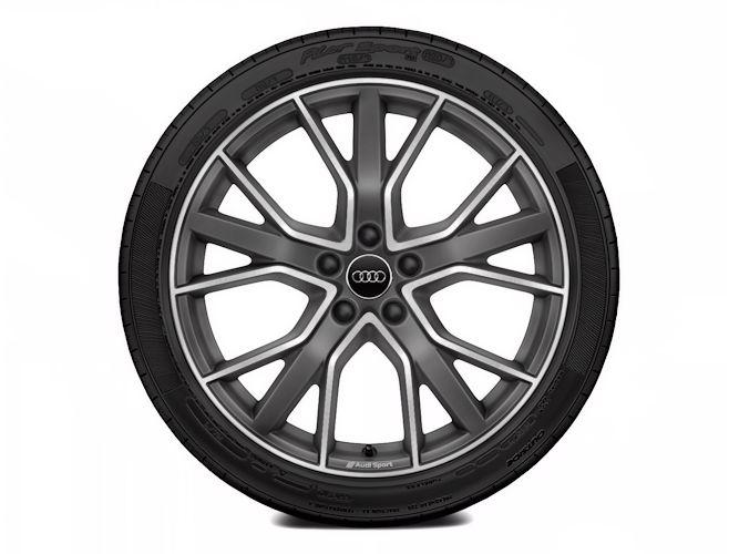 "5-V-eget stjernedesign, titaniumoptik (8,5J x 19""), Audi Sport"