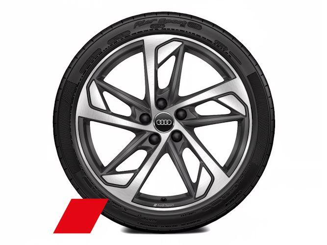 "5-eget trapezdesign, mat titaniumgrå (8J x 19""), Audi Sport"