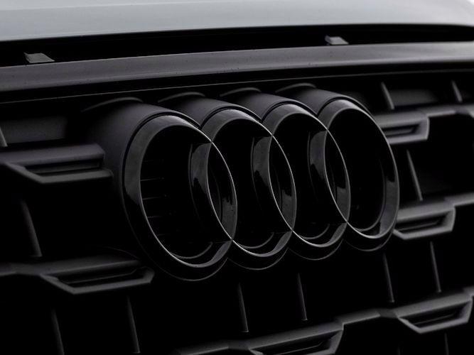 Audi ringe i sort højglans til kølergrill