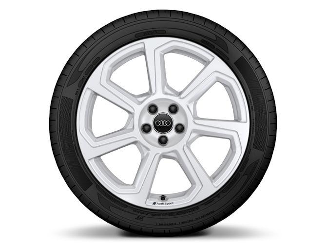 "7-eget rotordesign, hvid (7,5J x 18""), Audi Sport"