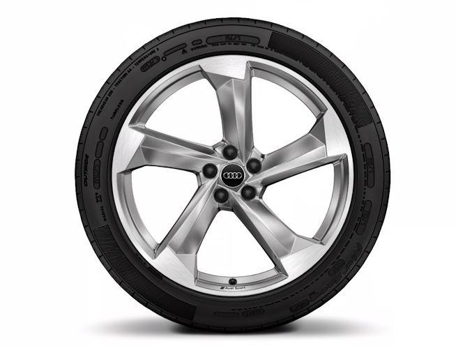 "5-eget turbinedesign, platinoptik (10J x 21""), Audi Sport"