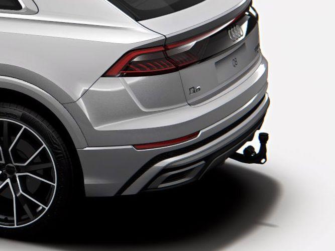 El-svingbart anhængertræk til biler med luftundervogn