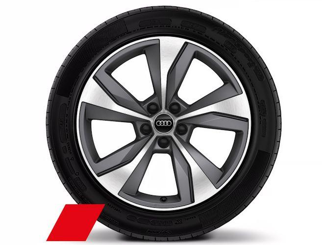"5-eget turbinedesign, titaniumoptik (8J x 19""), Audi Sport"