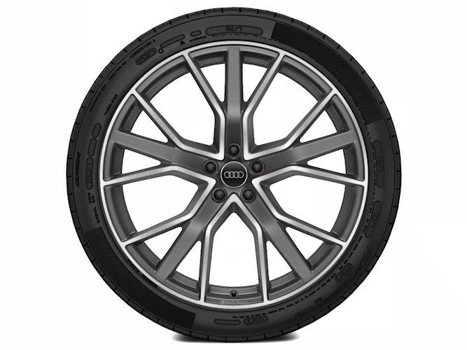 "5-V-eget stjernedesign, titaniumoptik (10J x 22""), Audi Sport"