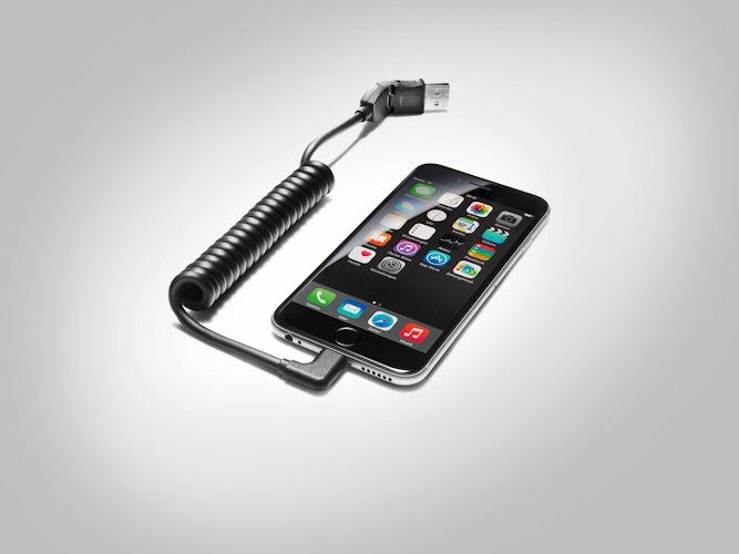 USB-tilslutningskabel m. vinklet stik - Apple lightning connector