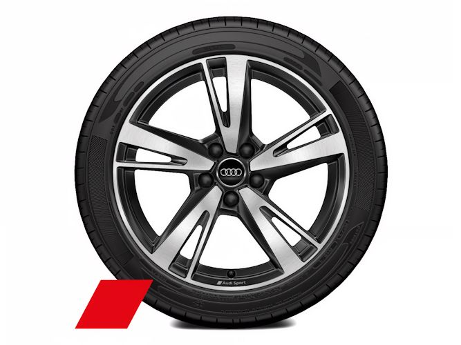 """5-eget blade-design, antracitsort (8J x 18""""), Audi Sport"""