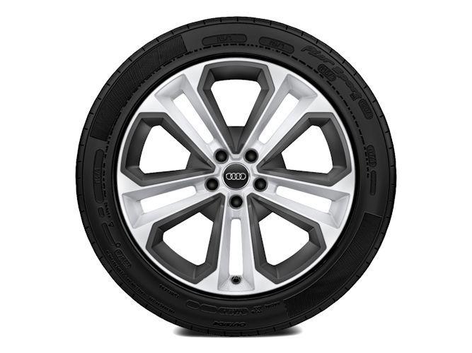 """5-dobbelteget moduldesign m. elementer i strukturgrå (8J x 19""""), Audi Sport"""