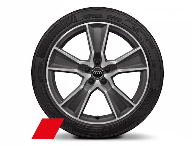 "5-eget offroaddesign, mat titaniumoptik (8J x 20""), Audi Sport"