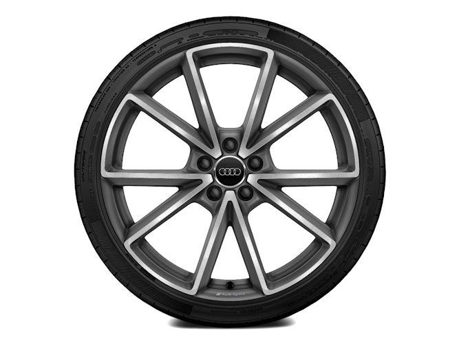 "5-V-eget design, titaniumoptik (9J x 20""), Audi Sport"