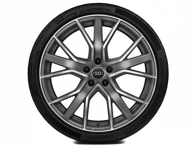 "5-V-eget stjernedesign, titaniumoptik (9J x 20""), Audi Sport"