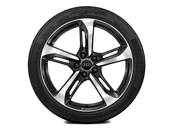 """5-eget blade-design, sort (9J x 19""""), Audi Sport"""