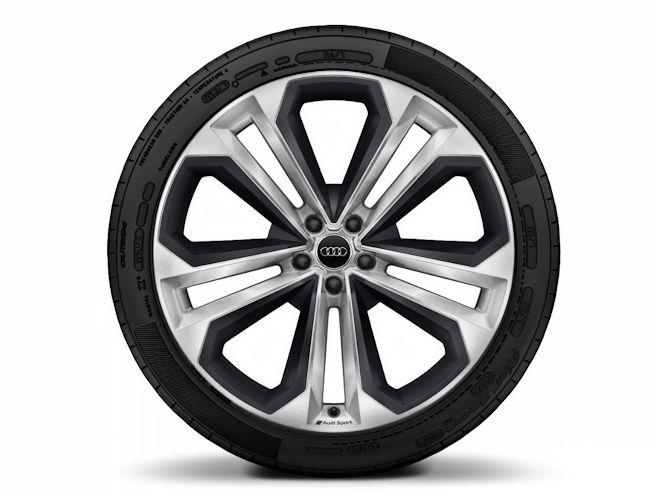 """5-dobbelteget moduldesign m. elementer i mat strukturgrå (10J x 22""""), Audi Sport"""