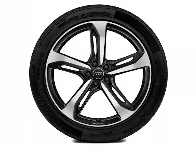 """5-eget blade-design, sort (9,5J x 21""""), Audi Sport"""