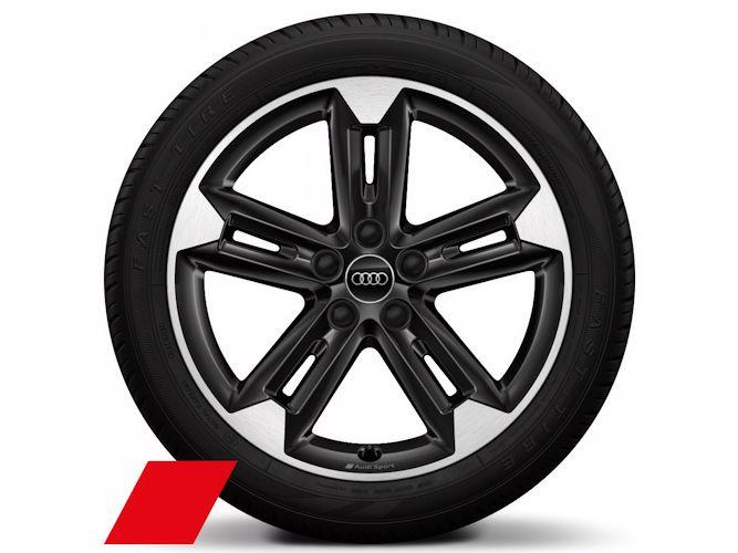 """5-dobbelteget trapezdesign, sort (7J x 18""""), Audi Sport"""
