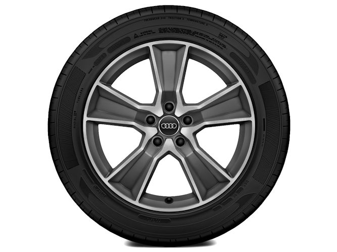 "5-eget offroad-design, titaniumoptik (7J x 18""), Audi Sport"