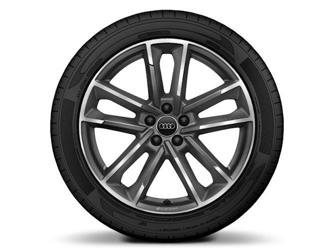 "5-dobbelteget design, mat titaniumoptik (7,5J x 18""), Audi Sport"