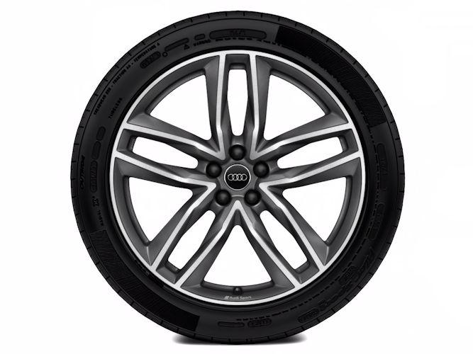 "5-dobbelteget design, titaniumoptik (9,5J x 21""), Audi Sport"