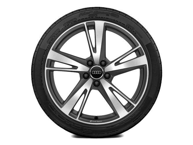 """5-eget blade-design, titaniumoptik (9J x 19""""), Audi Sport"""