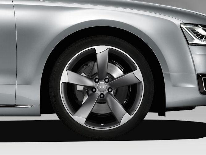 "5-eget rotordesign, titaniumoptik (9J x 21""), Audi Sport"