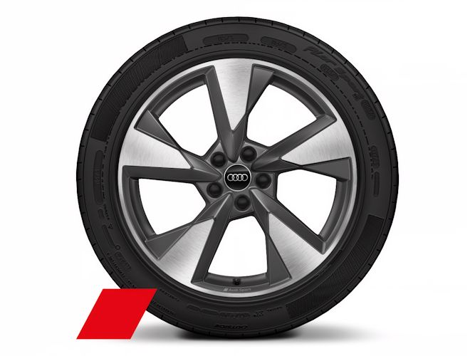 "5-eget pylondesign, mat titaniumoptik (8J x 19""), Audi Sport"