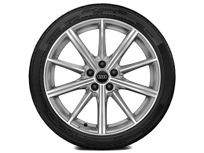 """10-eget stjernedesign, platinoptik (8,5J x 19""""), Audi Sport"""